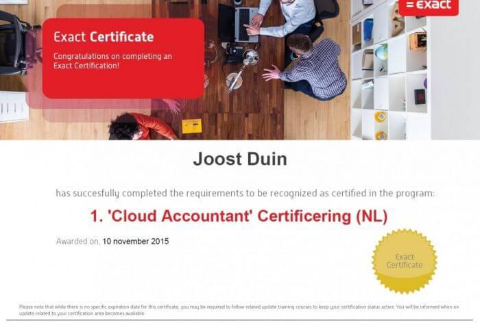 Exact certification