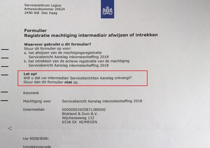 Registratie machtiging intermediair SBA