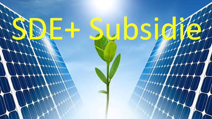 SDE+ subsidieregeling